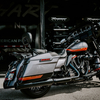 "パーツ:Rinehart Racing「4.5"" Black Chrome Slip-on Exhaust for Harley CVO」"