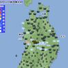 東北で非常に激しい雨