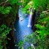 宮崎県 高千穂峡 涼しげな滝のそばでマイナスイオンを浴びてきた
