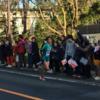 箱根駅伝、6区山下りで、青山学院大学 を応援しました!