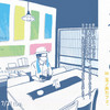 6/8-7/31出張「本と手ぬぐい3」in 玉ノ井カフェ.