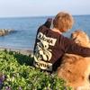 海岸線に咲き誇るハマエンドウと庭キャンプ!