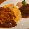 空の旅の前の腹ごなしは「ポートサイドキッチンbyグリル満天星麻布十番」でハンバーグ