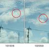 空の写真(2)不思議な彩雲と雲の謎めく動き。