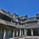 「アンコールワット Angkoor Wat」~第一回廊 西塔門から十字回廊を経て中心部へ。。。