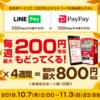 LINE PayとPayPayで毎週100円ずつ計200円還元!Coke ON Payアプリ対応自動販売機を探せ!