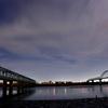 江戸川沿いの夜空
