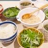 水菜とテンペ入りチリマヨドレッシングなど