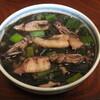 小スルメイカと葉玉葱の煮物