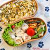 #635 (ワンタンの残りで作った)鶏挽肉と人参の焼売弁当