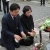 済州道知事ら大阪4・3慰霊碑を参拝