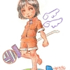 チョークアート 女の子のイラスト