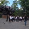 カザフスタン旅行[08]  アルマトイ・トランジット(2019年5月) 観光スポット:V.モミシュリ記念碑