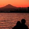 江の島ぶらぶら撮り歩き (4)江の島と片瀬海岸の夕景