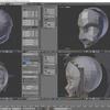 HoloLens特化のホロ恋子モデルを作成する その16(前髪のモデリング)