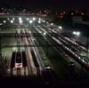 夜の車両基地