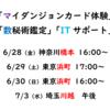 【ち】今月の都内出張予定【マイダンジョンカード、ヒューマンデザイン、数秘術鑑定、ITサポート】