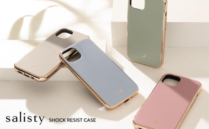 ゴールド×くすみカラーで程よい甘さがあざと可愛い。「salisty」iPhone 13シリーズ対応の耐衝撃ケースが新色で新登場