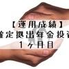【運用成績】企業型確定拠出年金(初回)