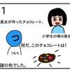 バレンタインデー謎チョコ【4コマ漫画】