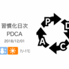 12月は「今年の終わり」ではなく「来年の始まり」[習慣化日次PDCA 2018/12/01]