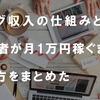 【徹底解説】ブログ収入の仕組みと一般人が月1万円稼ぐまでのやり方