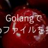 【Golang】tmpファイルを扱う