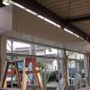 早島町 鉄骨造ガレージ 電動シャッターとサッシ、防湿シート貼り