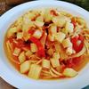根菜のミネストローネスパゲッティ