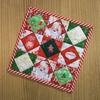 正方形のクリスマスキルト