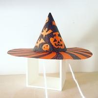 ハロウィン工作の記録・画用紙2枚で簡単でかわいい三角帽子が出来ちゃうよ!