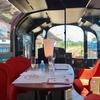 えちごトキめき鉄道会社 国内最大級の展望観光列車 「雪月花」車両に4席の展望ハイデッキ席に乗車 、車内の模様