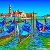 イタリアの写真を鈴木英人風イラストに加工してみた