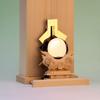 神鏡と金幣芯を前後に置いてその脇に祓串を置く 神棚の玄人っぽい祭り方