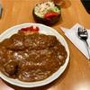 🚩外食日記(284)    宮崎ランチ   「らいらい」③より、【カツカレー(サラダ付き)】‼️