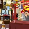 六本木の雑居ビル地下にある昭和食堂Amet(アメット)をエクセルで描いてみた