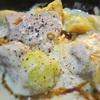 豚ヒレ肉とジャガイモの豆乳ソース、ペパー風味