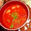 コロコロじゃがいもと白葱のトマトバター味噌汁