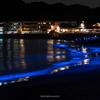 夜の逗子海岸で光の波プロジェクト「ナイトウェーブ」 #nightwave2017 #逗子海岸 #逗子アートフェスティバル2017