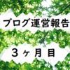 雑記ブログ3ヶ月目の運営報告!記事数、PV数(アクセス数)、収益【はてなブログ】