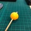 湾フグ オレンジ夜光錘作成