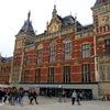 オランダ・アムステルダム: アムステルダム中央駅とアンネ・フランクの家