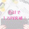 ブログの総アクセス数が1万PVを突破!これまでやってきた3つのこと