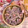 春爛漫♡桜と紫キャベツの春色しゅうまいのレシピ!