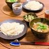 ごま油香る稲庭うどんのつけ麺