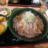 大手町【桃山 大手町店】肉そば(冷) ¥600+セットメニュー ¥200