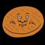 かわいいハンバーグのイラスト