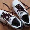 運動靴を洗いヒモをとりかえる(自粛中の6月)