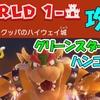 ワールド1-城 攻略  グリーンスターX3  ハンコの場所  ボス戦  【スーパーマリオ3Dワールド+フューリーワールド】