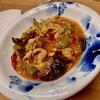 麻婆豆腐に餡掛けお焦げ美味しい。